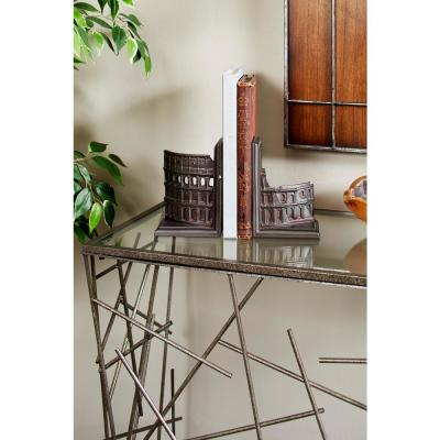 Dark Brown Italian Colosseum Bookends