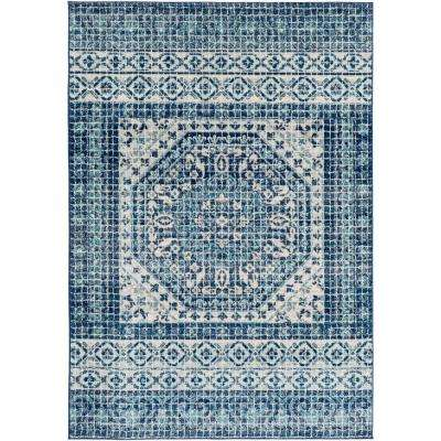 Kassandra Dark Blue 9 ft. 3 in. x 12 ft. 6 in. Medallion Area Rug