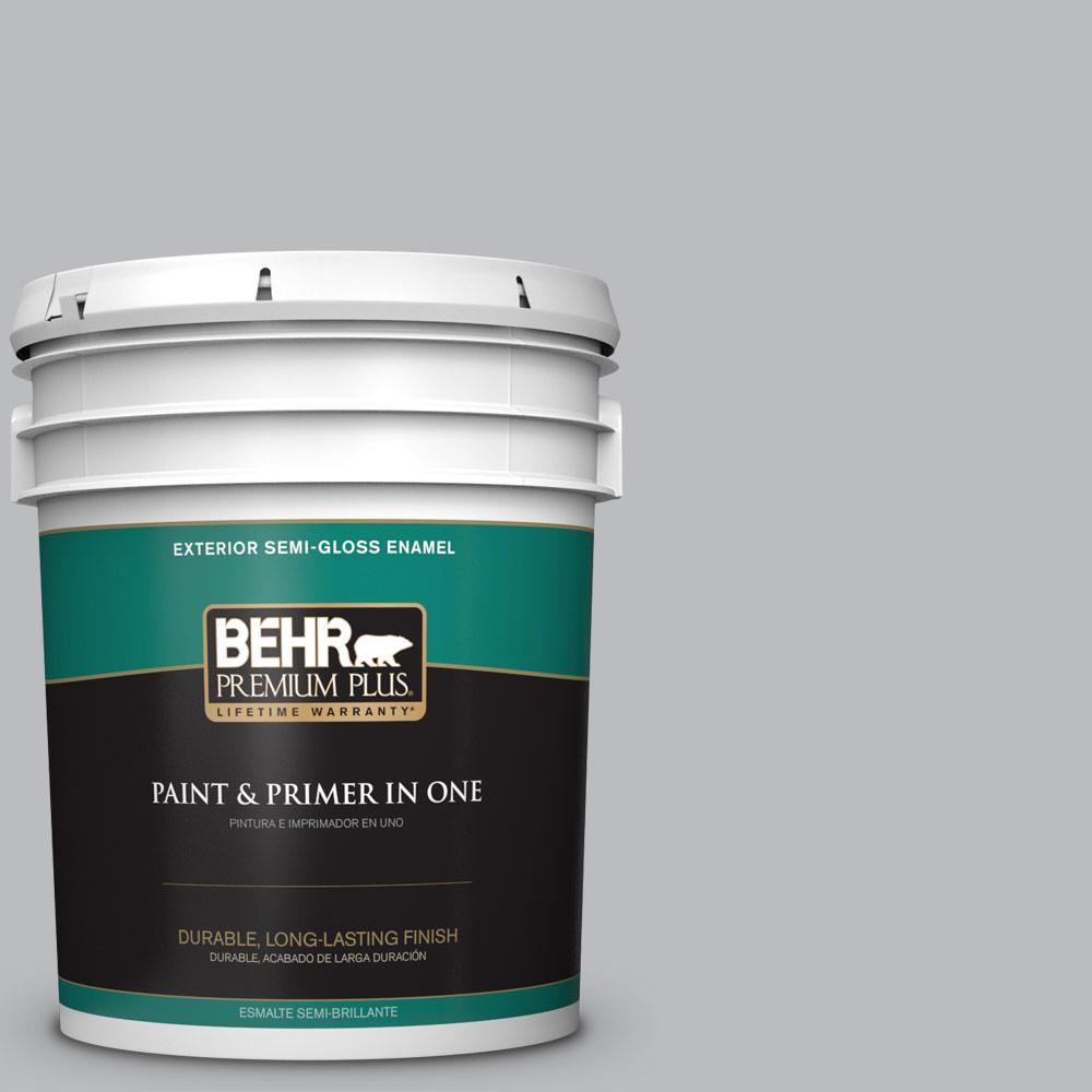 5 gal. #PPU18-05 French Silver Semi-Gloss Enamel Exterior Paint