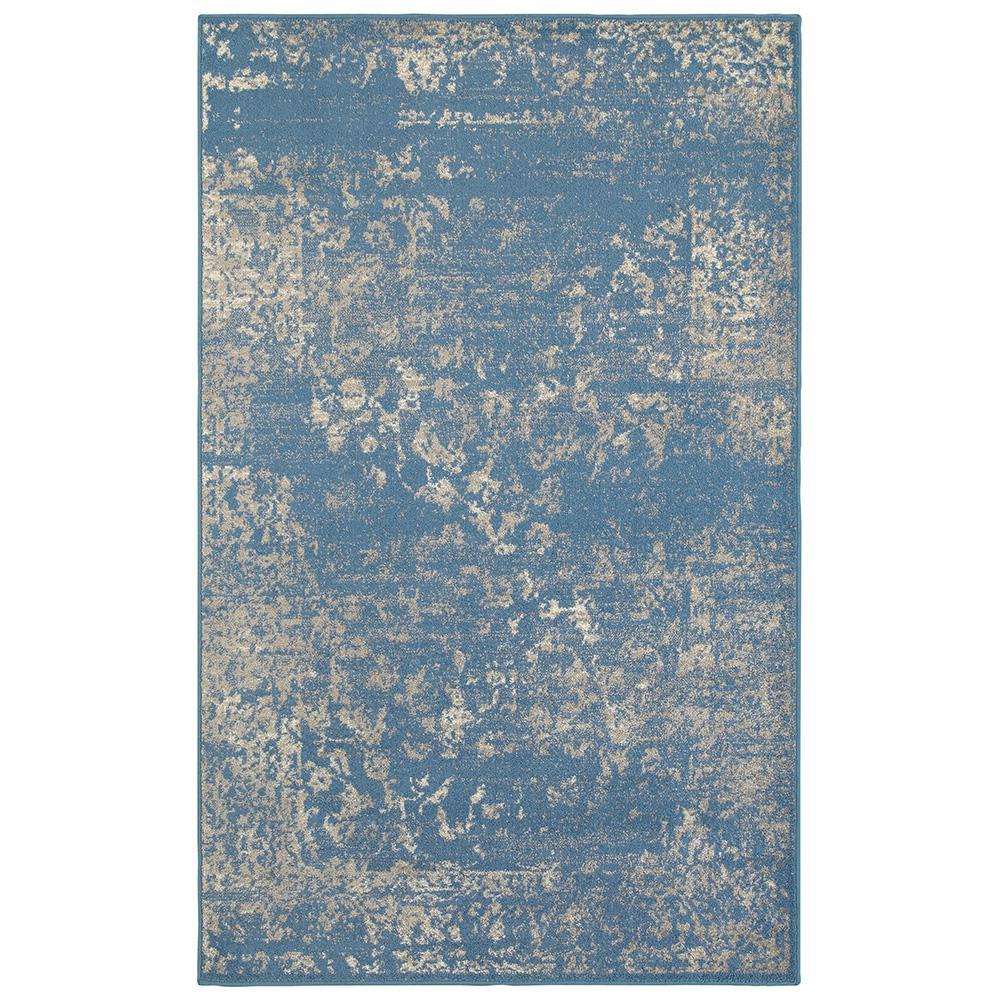 Matrix Blue Light Beige Rectangle 5