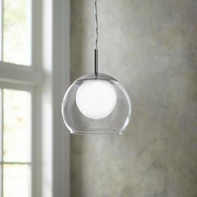 40-Watt Equivalence Chrome Integrated LED Mini Pendant