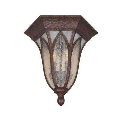 Charleston 2-Light Burnished Antique Copper Outdoor Flushmount