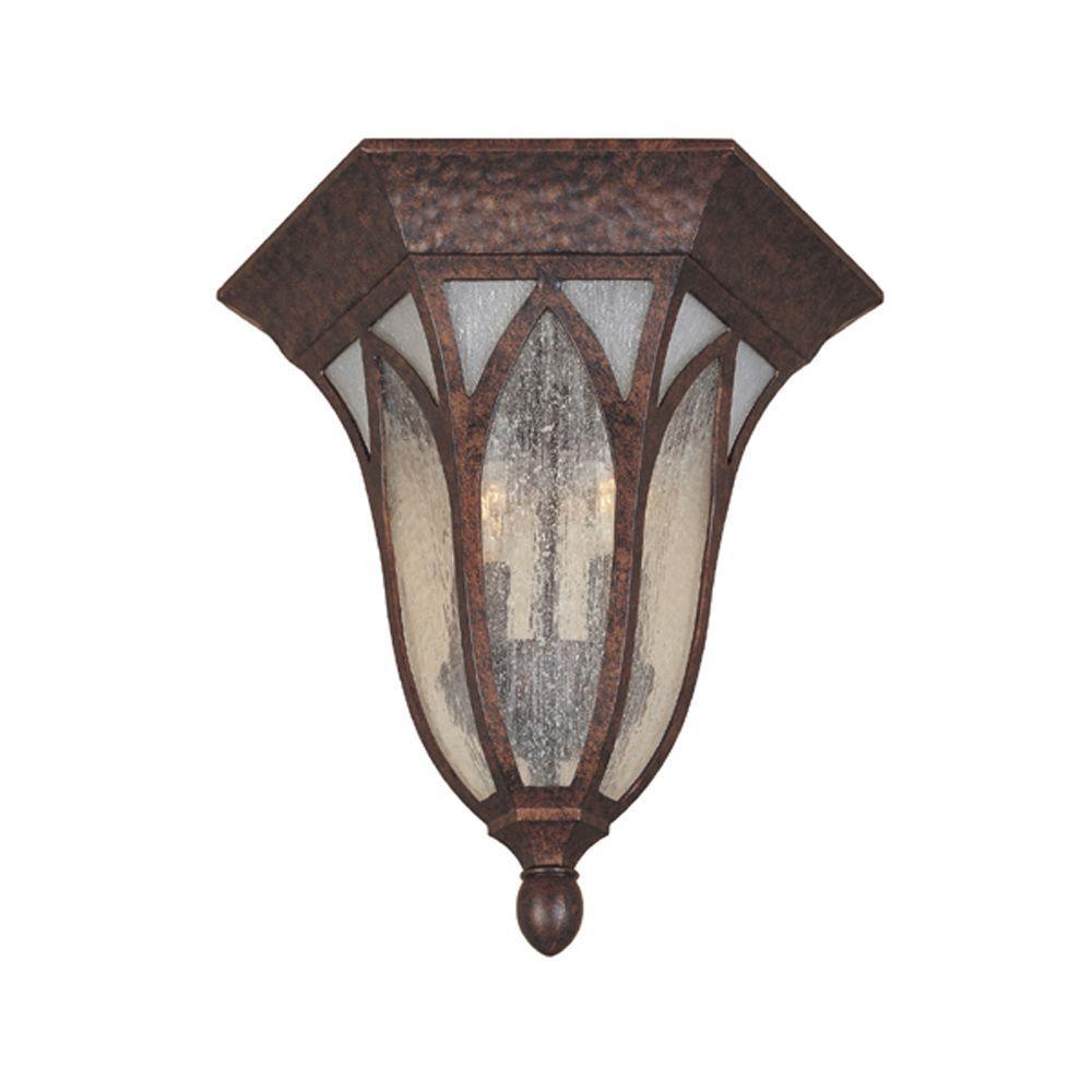 Berkshire 2-Light Burnished Antique Copper Outdoor Flushmount