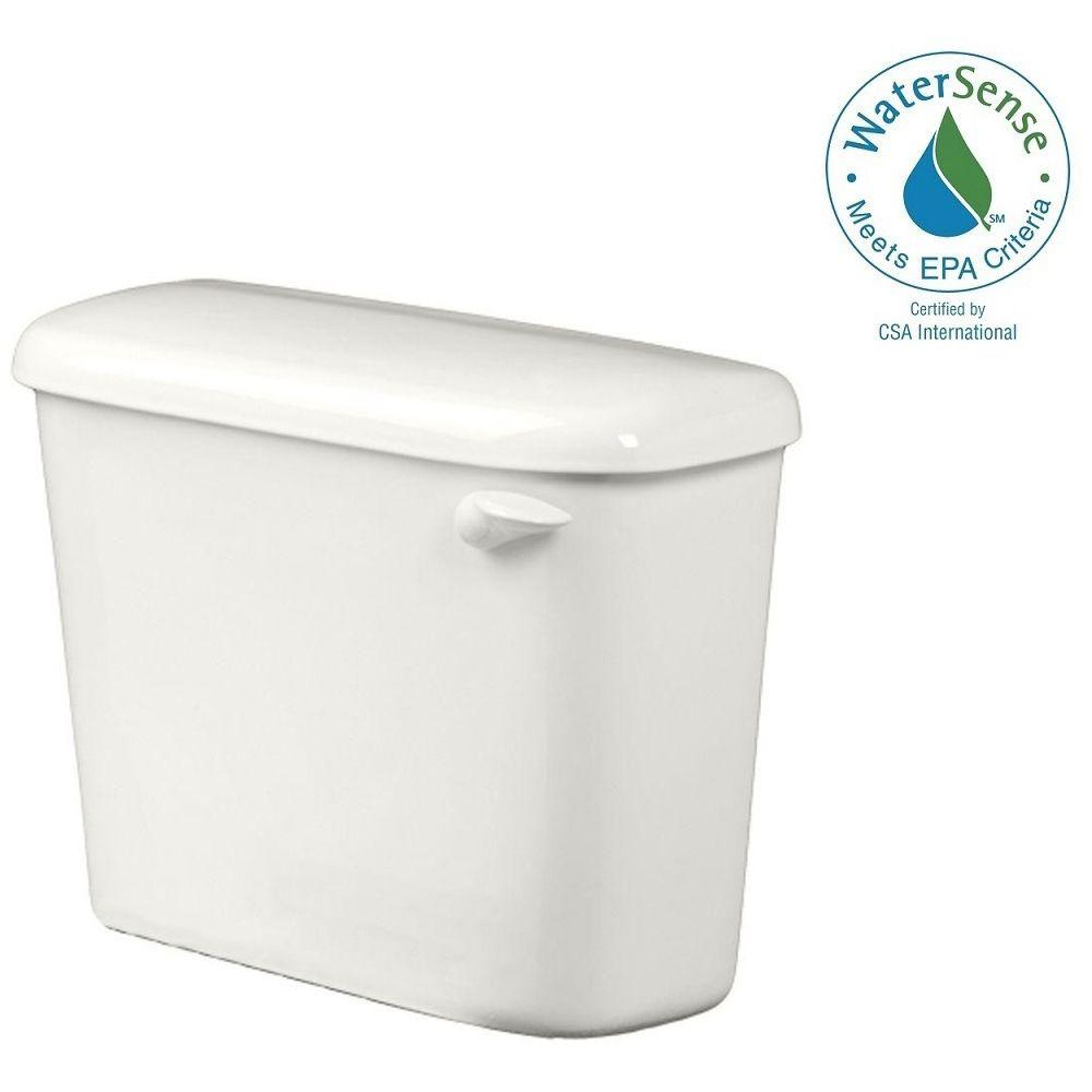 American Standard Colony 1.28 GPF Single Flush Toilet Tank Only for 10 in. Rough in White with Right-Hand Trip Lever