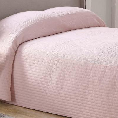 French Tile Blush King Quilted Bedspread