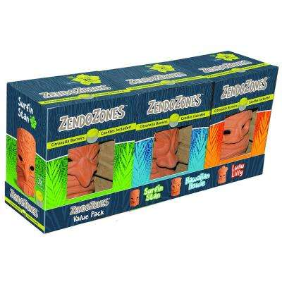 Citronella Candle Burners Value Pack (3-Pack)