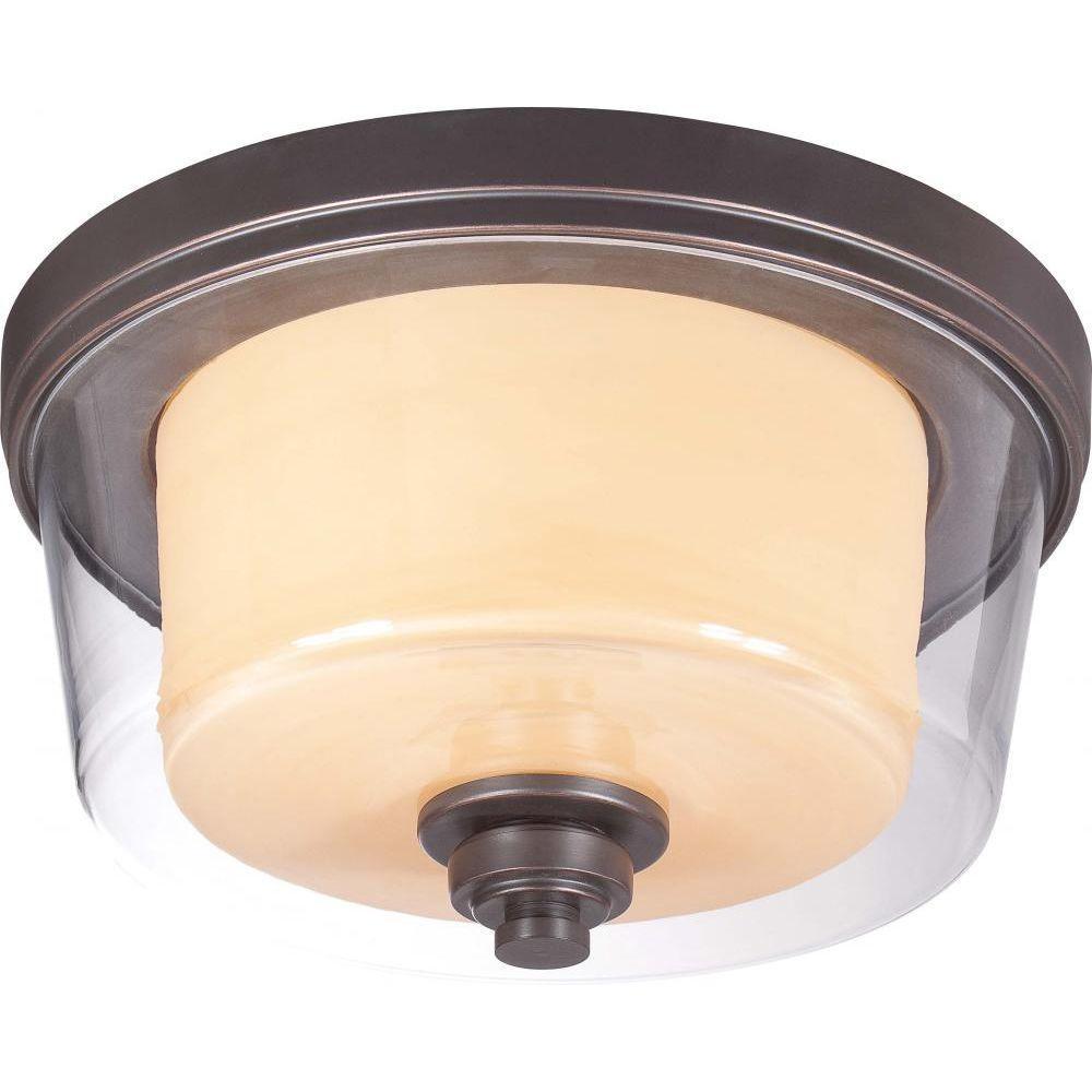Peyton 2-Light Sudbury Bronze Flush Mount