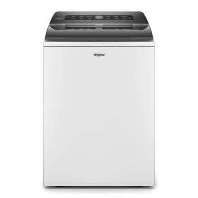 4.7 cu. ft. White Top Load Washing Machine with Built-in Water Faucet and Stain Brush