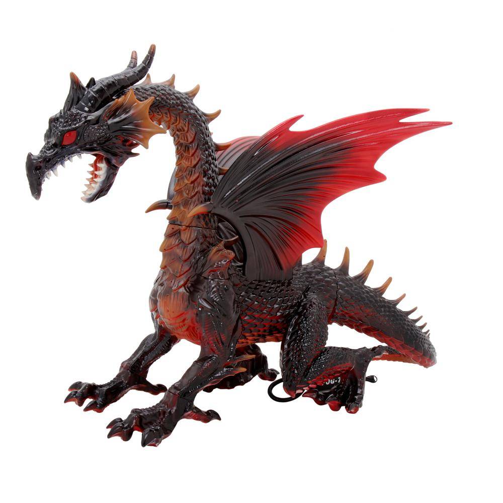 home accents holiday 69 in. animated dragon with fogging and led