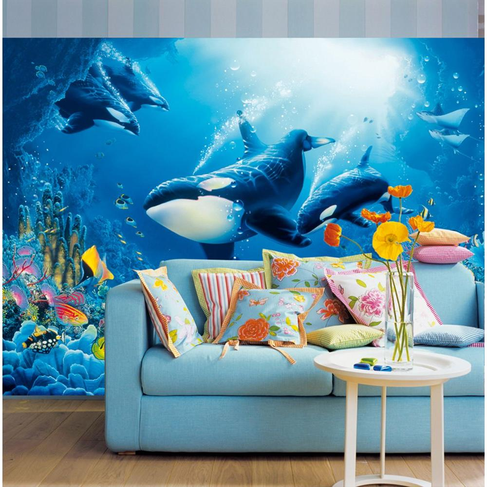 Beautiful Ideal Decor 100 In. X 144 In. Delight Of Life Wall Mural Part 5
