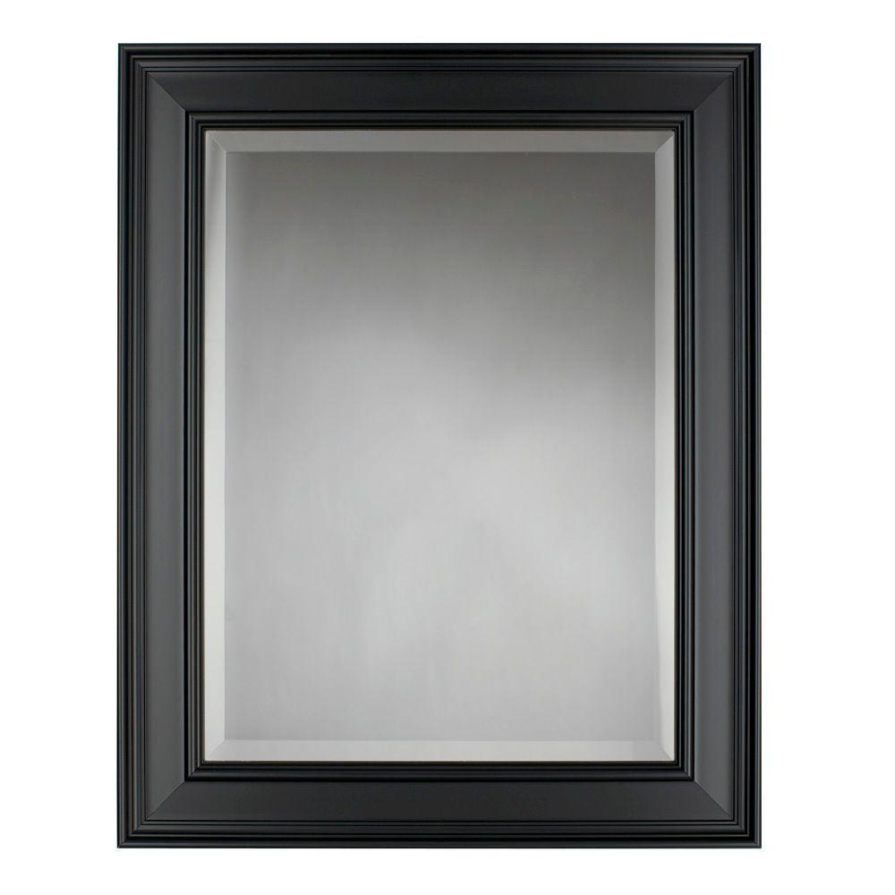 mirror 24 x 30. store sku #652097. martha stewart living grasmere 30 in. x 24 black framed mirror e