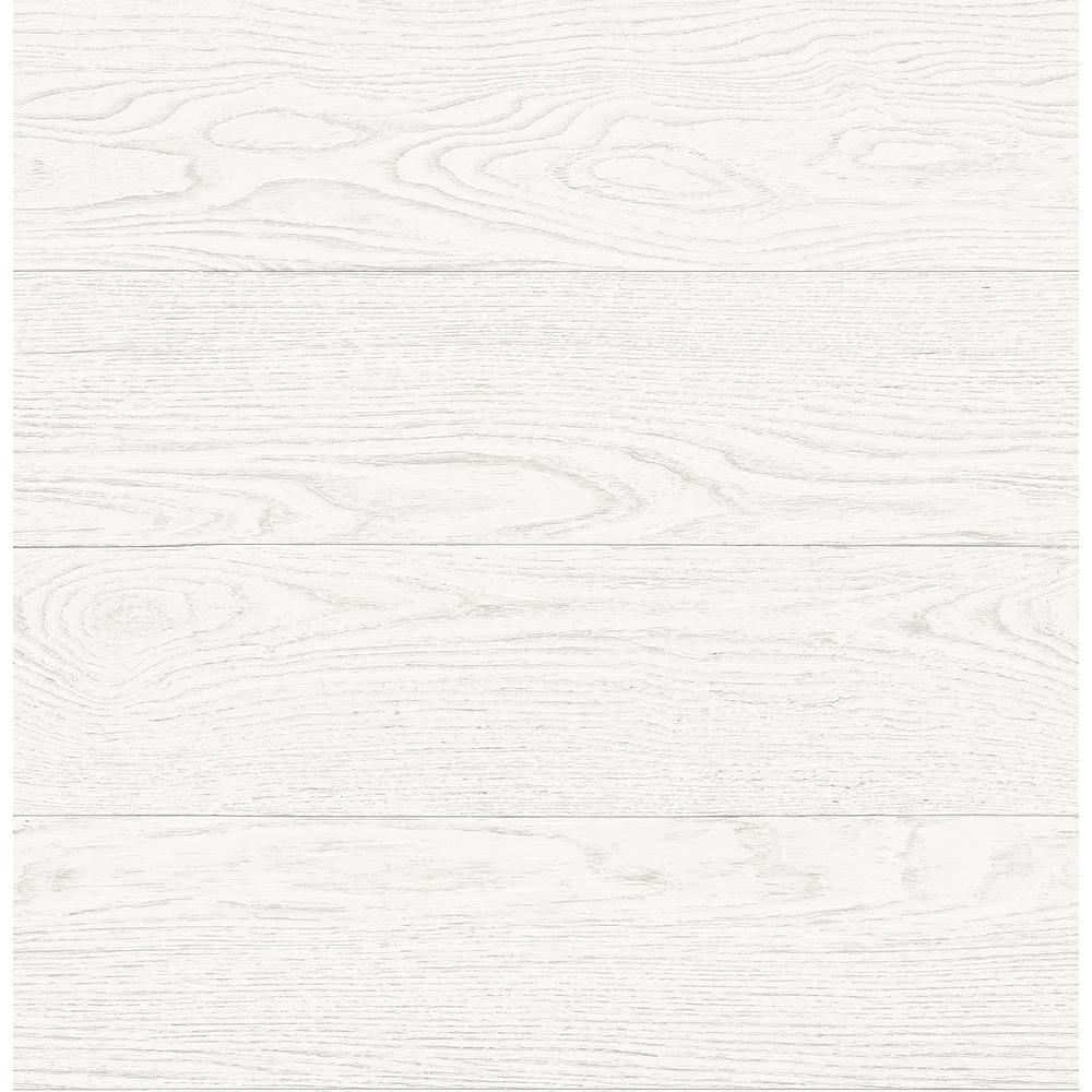 Ravyn White Salvaged Wood Wallpaper