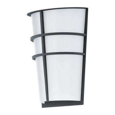 Breganzo Anthracite Outdoor Integrated LED Wall Light
