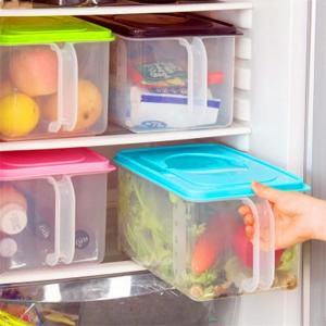 Basicwise Sealed Plastic Kitchen Container with Handle in ...