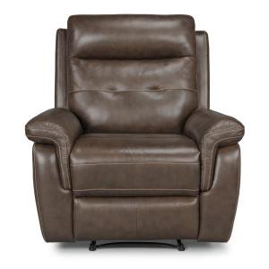 HOMESTYLES Lux 3-Piece Brown Leather Power Motion Reclining Sofa ...