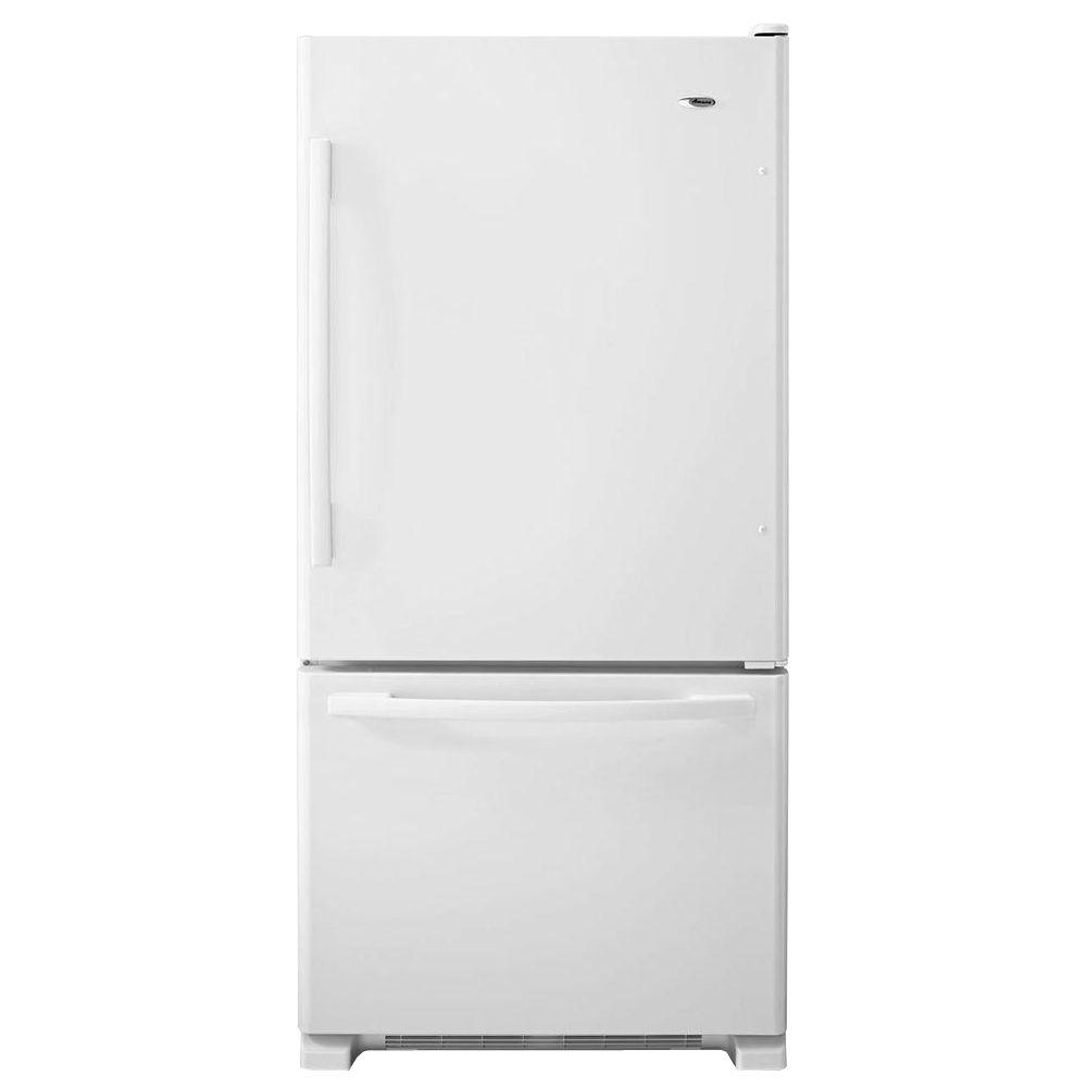33 in. W 22.1 cu. ft. Bottom Freezer Refrigerator in White