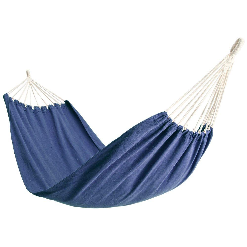 null 6-1/2 ft. Polyester Bag Hammock in Blue