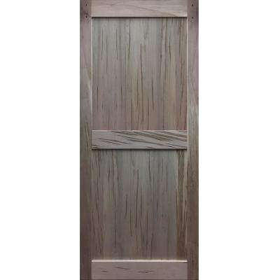 36 in. x 83.5 in. 2-Panel Solid Core Maple Unfinished Interior Barn Door Slab