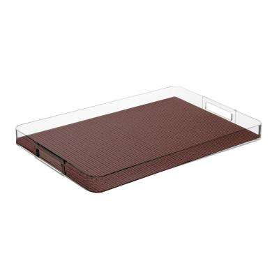 Fishnet Rectangular Serving Tray in Chocolate