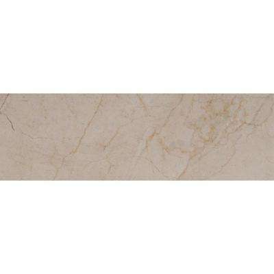 Crema Marfil 4 in. x 12 in. Polished Marble Floor and Wall Tile (5 sq. ft. / case)