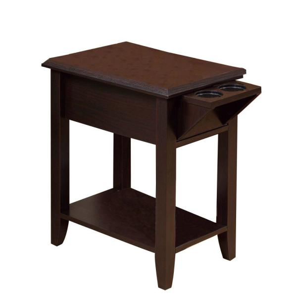 Benjara Brown Wooden Chair Side Table
