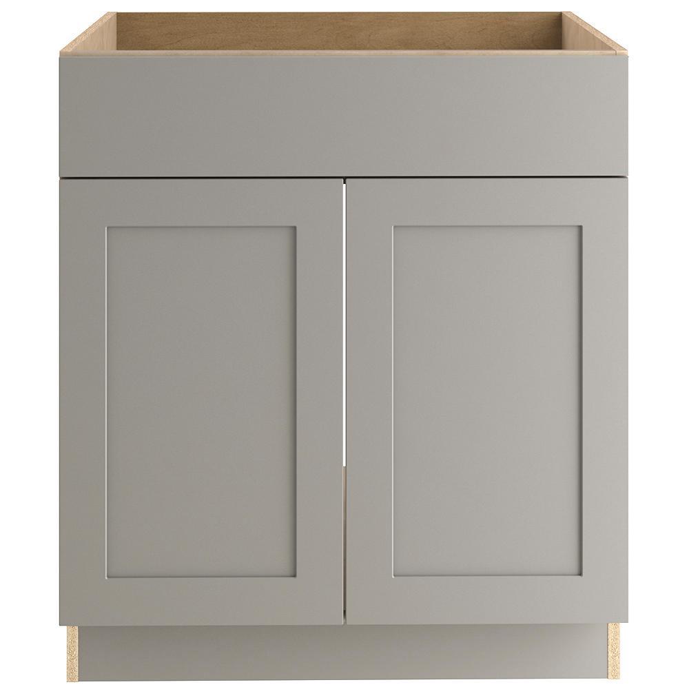 Hampton Bay Cambridge Assembled 30x34 5x24 In Sink Base Cabinet In Gray