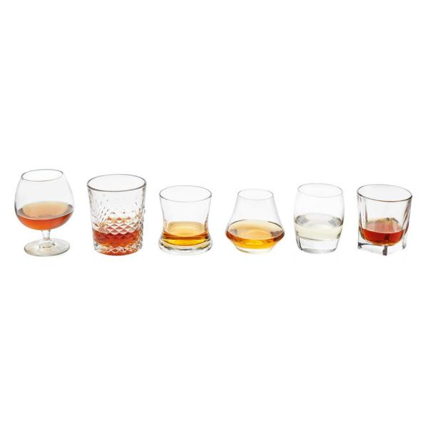 Craft Spirits 6-Piece Clear Glass Assorted Drinkware Set
