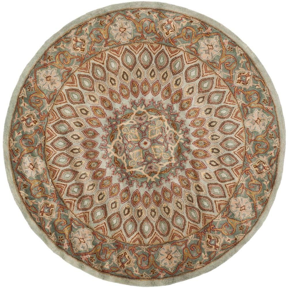 Heritage Blue/Grey 8 ft. x 8 ft. Round Area Rug