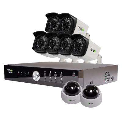 Aero 16-Channel HD Surveillance DVR with 8 1080p Indoor/Outdoor Cameras