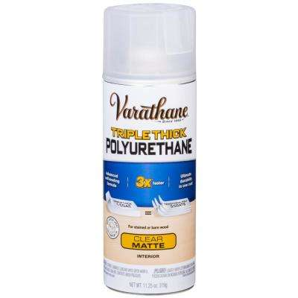 11 oz. Clear Matte Triple Thick Polyurethane Spray (6-Pack)