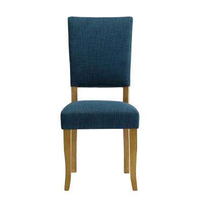 Open-Back Blue Parsons Dining Chair (Set of 2)