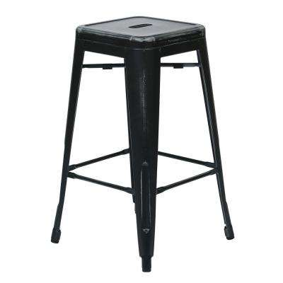 Bristow 26 in. Antique Black Bar Stool (Set of 2)