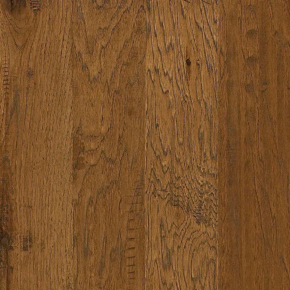 Shaw Western Hickory Espresso 3 8 In Thick X 5 Wide Random Length Engineered Hardwood Flooring 23 66 Sq Ft Case Dh83300879 The Home Depot