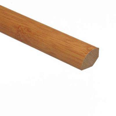 Traditional Bamboo-Dark 5/8 in. Thick x 3/4 in. Wide x 94 in. Length Vinyl Quarter Round Molding