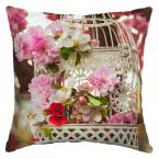16 x 16 Floral Birdcage Square Outdoor Throw Pillow