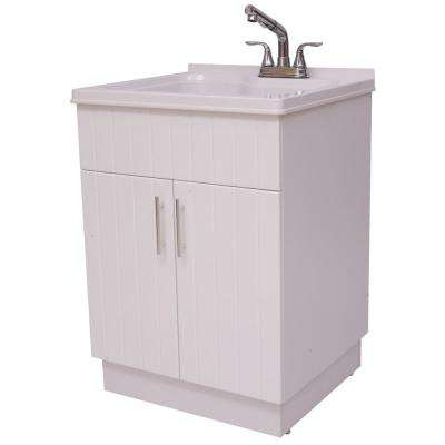 Exceptional Shaker Laundry Cabinet Kit With Pull Out Faucet