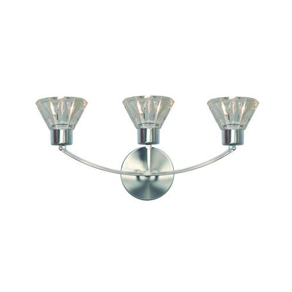 Tech Lighting Aspen: Illume Lighting Decorative 3-Light Satin Nickel Wall