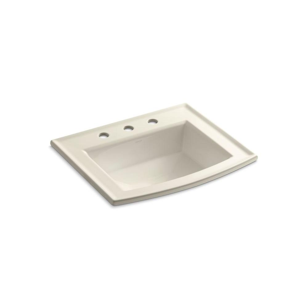 KOHLER Archer Drop-In Vitreous China Bathroom Sink in White with Overflow  Drain-K-2356-8-0 - The Home Depot