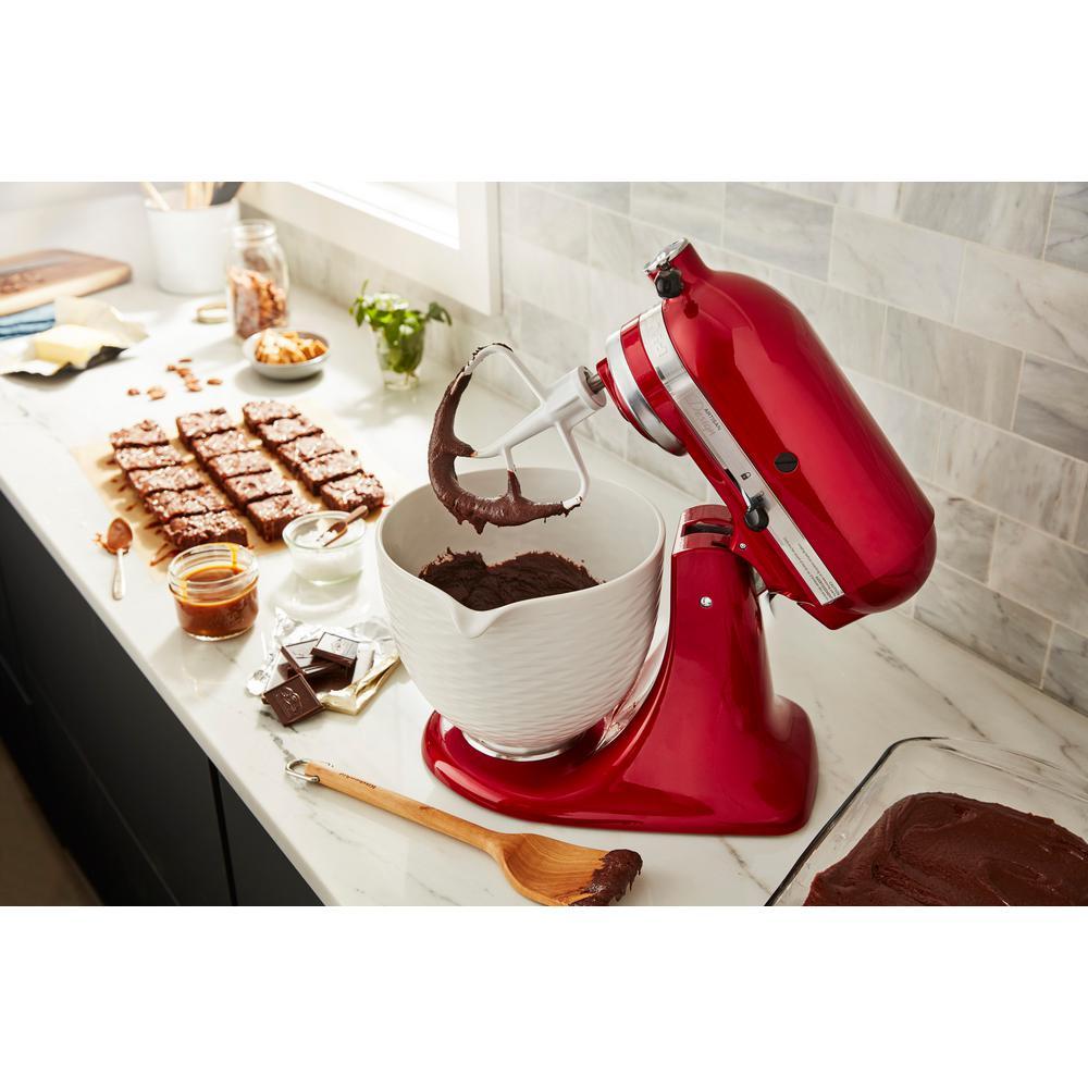 KitchenAid-5 Qt. White Chocolate Textured Ceramic Bowl