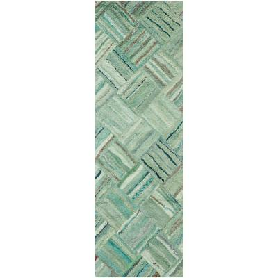 Nantucket Green/Multi 2 ft. x 13 ft. Runner Rug