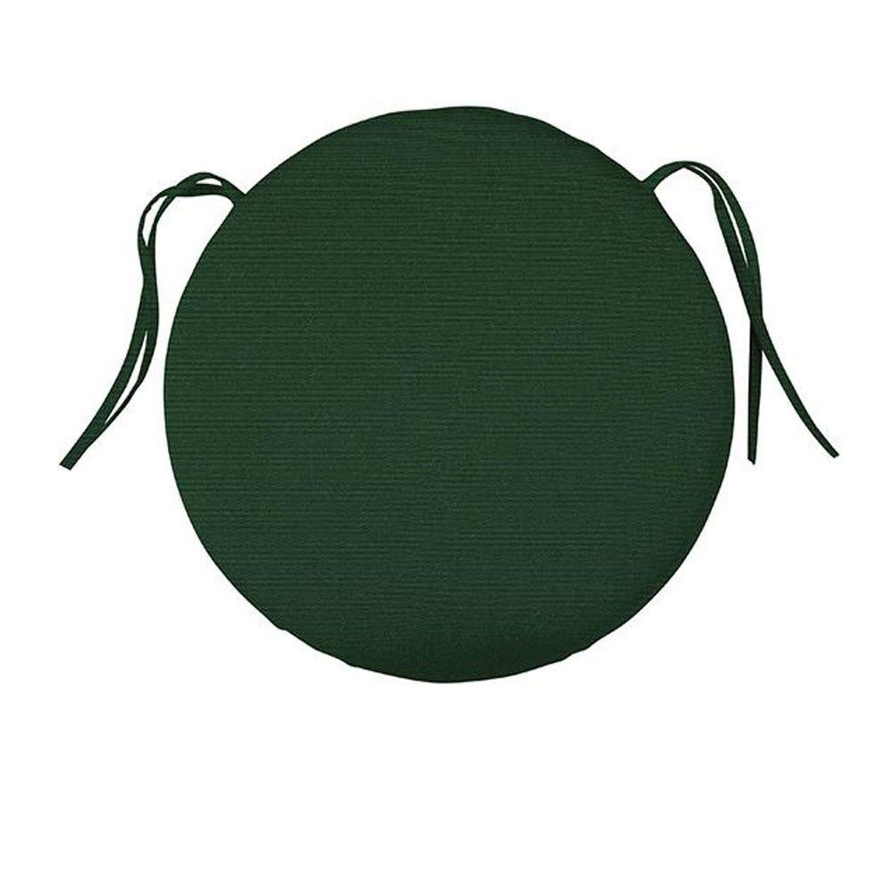 Home Decorators Collection Sunbrella Forest Green Round Outdoor Seat Cushion