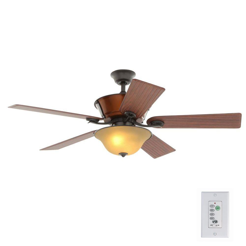 Hampton Bay Radcliffe 52 In Indoor Outdoor Natural Iron Ceiling Fan With Light Kit