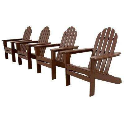 Classics Mahogany 4-Piece Patio Adirondack Set