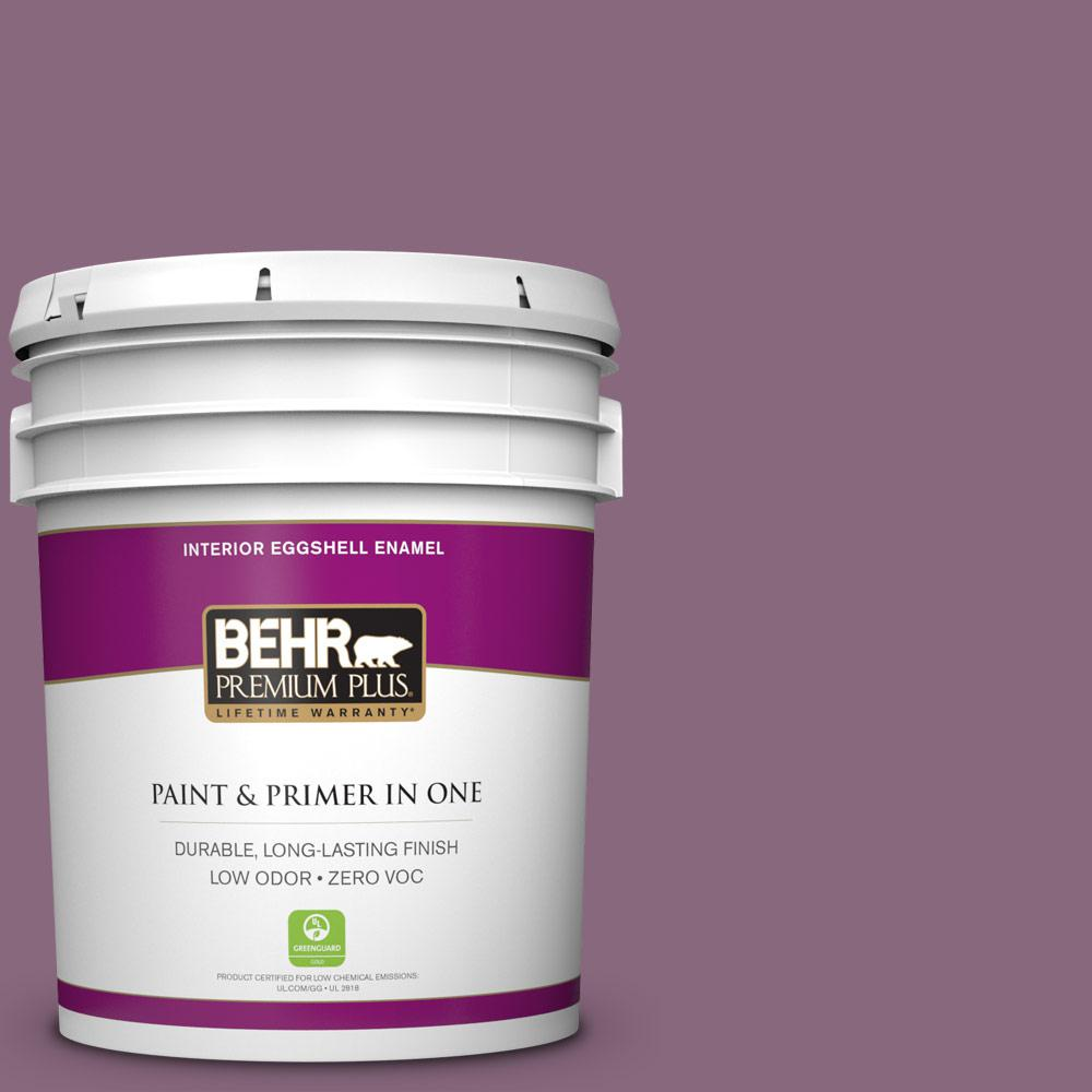 BEHR Premium Plus 5-gal. #S110-6 Plum Royale Eggshell Enamel Interior Paint