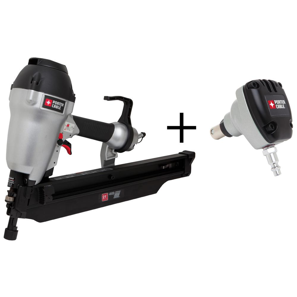 Pneumatic 21-Degree 3-1/2 in. Full Round Framing Nailer with 0-Degree Mini