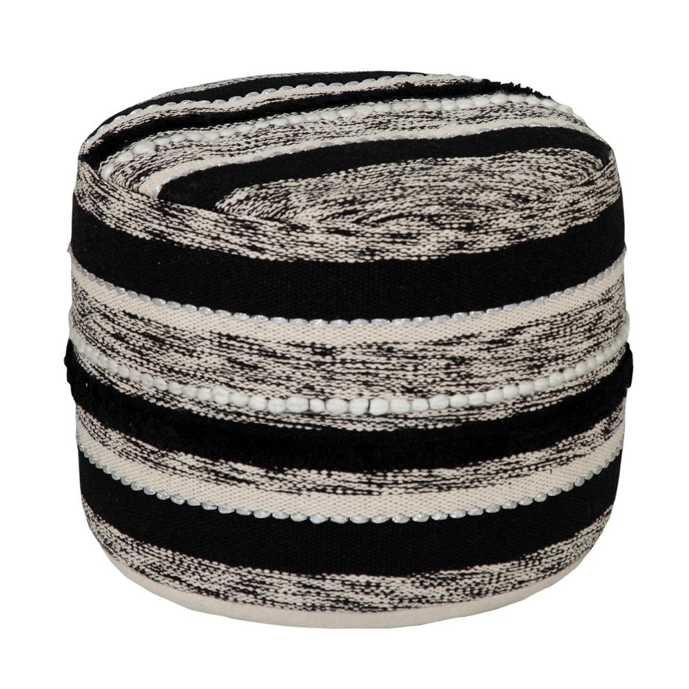 Ombre Design 18 in. x 14 in. Striped Black / White