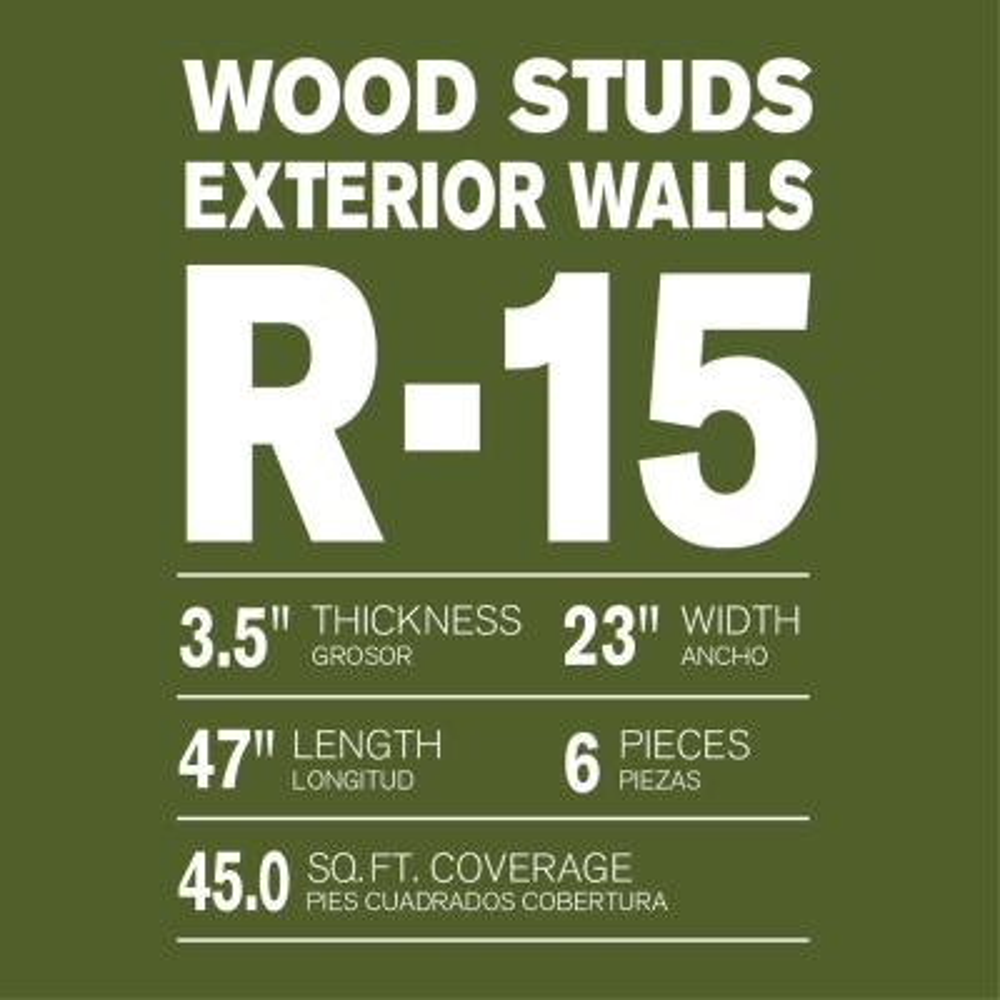 R-15 Thermafiber UltraBatt Unfaced Mineral Wool Insulation Batt 23in. x 47in. (16-Bags)