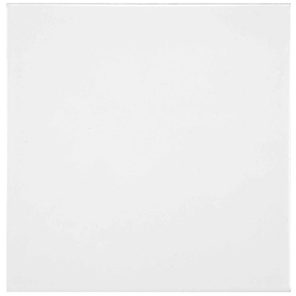 Merola Tile Lily White 7-3/4 in. x 7-3/4 in. Ceramic Floor and Wall Tile (11 sq. ft. / case)