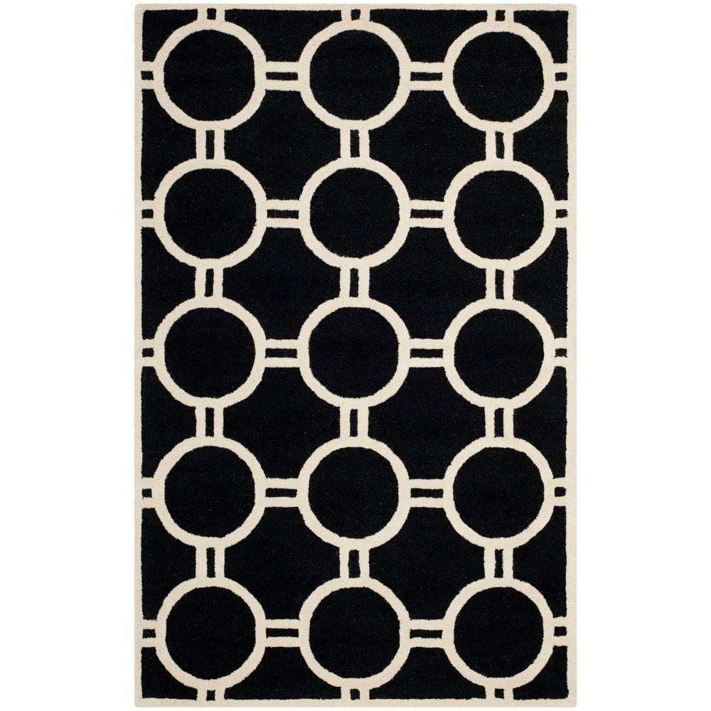 Cambridge Black/Ivory 4 ft. x 6 ft. Area Rug