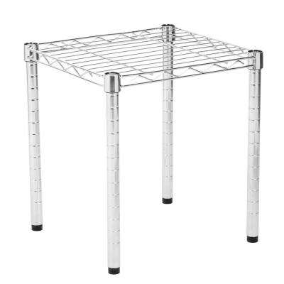 16 in. H x 15 in. W x 14 in. D 1-Shelves Commercial Free Standing Shelves Wire Table